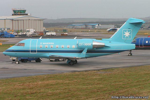 самолет cl-600 компании Maersk