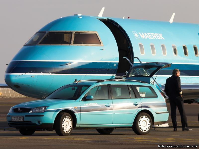 самолет cl-604 компании Maersk